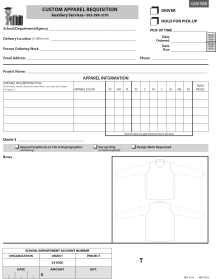 Apparel Order Form
